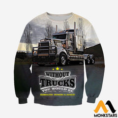 3D All Over Printed Truck Clothes Long-Sleeved Shirt / Xs