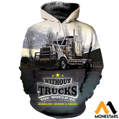 3D All Over Printed Truck Clothes Normal Hoodie / Xs