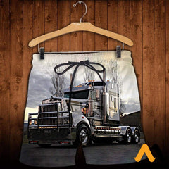3D All Over Printed Truck Clothes Shorts / Xs