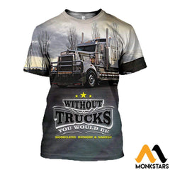 3D All Over Printed Truck Clothes T-Shirt / Xs