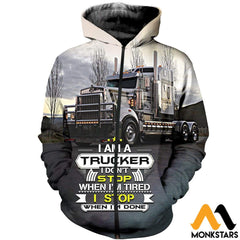 3D All Over Printed Truck Clothes Zipped Hoodie / Xs