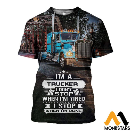 3D All Over Printed Truck Dont Stop Shirts And Shorts T-Shirt / Xs Clothes