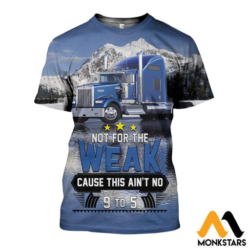 3D All Over Printed Truck Driver Art Shirts And Shorts T-Shirt / Xs Clothes