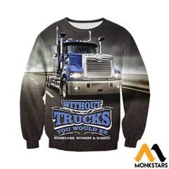 3D All Over Printed Truck In Road Clothes Long-Sleeved Shirt / Xs
