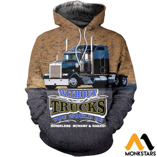 3D All Over Printed Truck Kenworth Shirts And Shorts Normal Hoodie / Xs Clothes