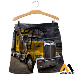 3D All Over Printed Truck Shirts And Shorts / Xs Clothes