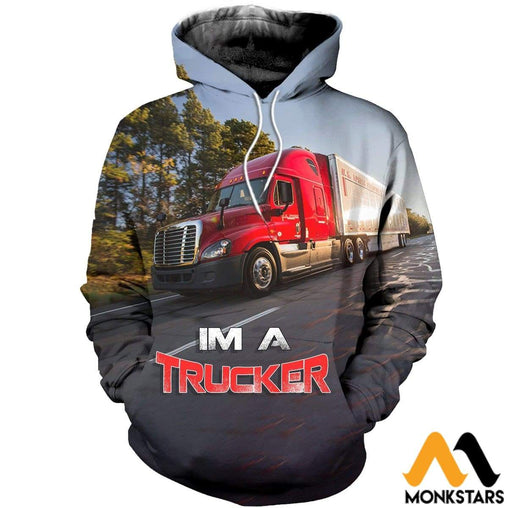3D All Over Printed Trucker T-Shirt Hoodie Adal190411 Normal / Xs Clothes