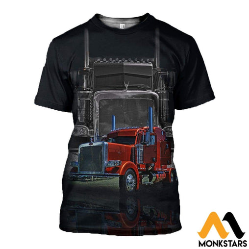 3D All Over Printed Trucks Clothes T-Shirt / Xs