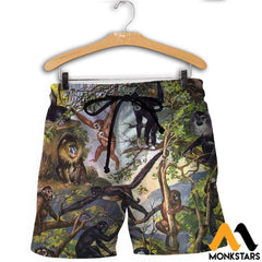 3D All Over Printed Type Of Primate Shirts And Shorts / Xs Clothes