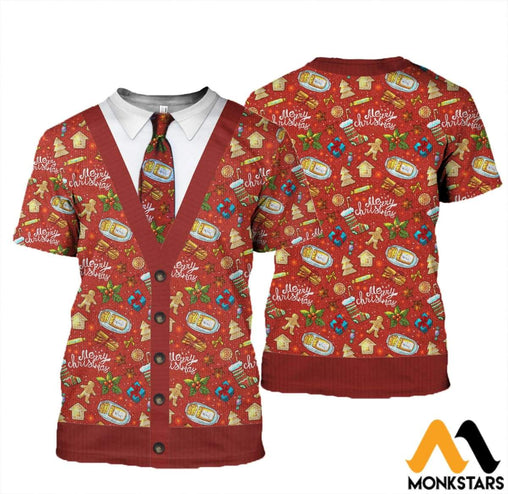 3D All Over Printed Ugly Merry Christmas Shirts And Shorts T-Shirt / Xs Clothes