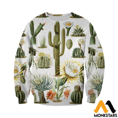 3D All Over Printed Vintage Cactus Shirts And Shorts Long-Sleeved Shirt / Xs Clothes