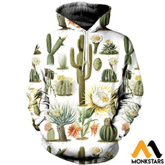 3D All Over Printed Vintage Cactus Shirts And Shorts Normal Hoodie / Xs Clothes