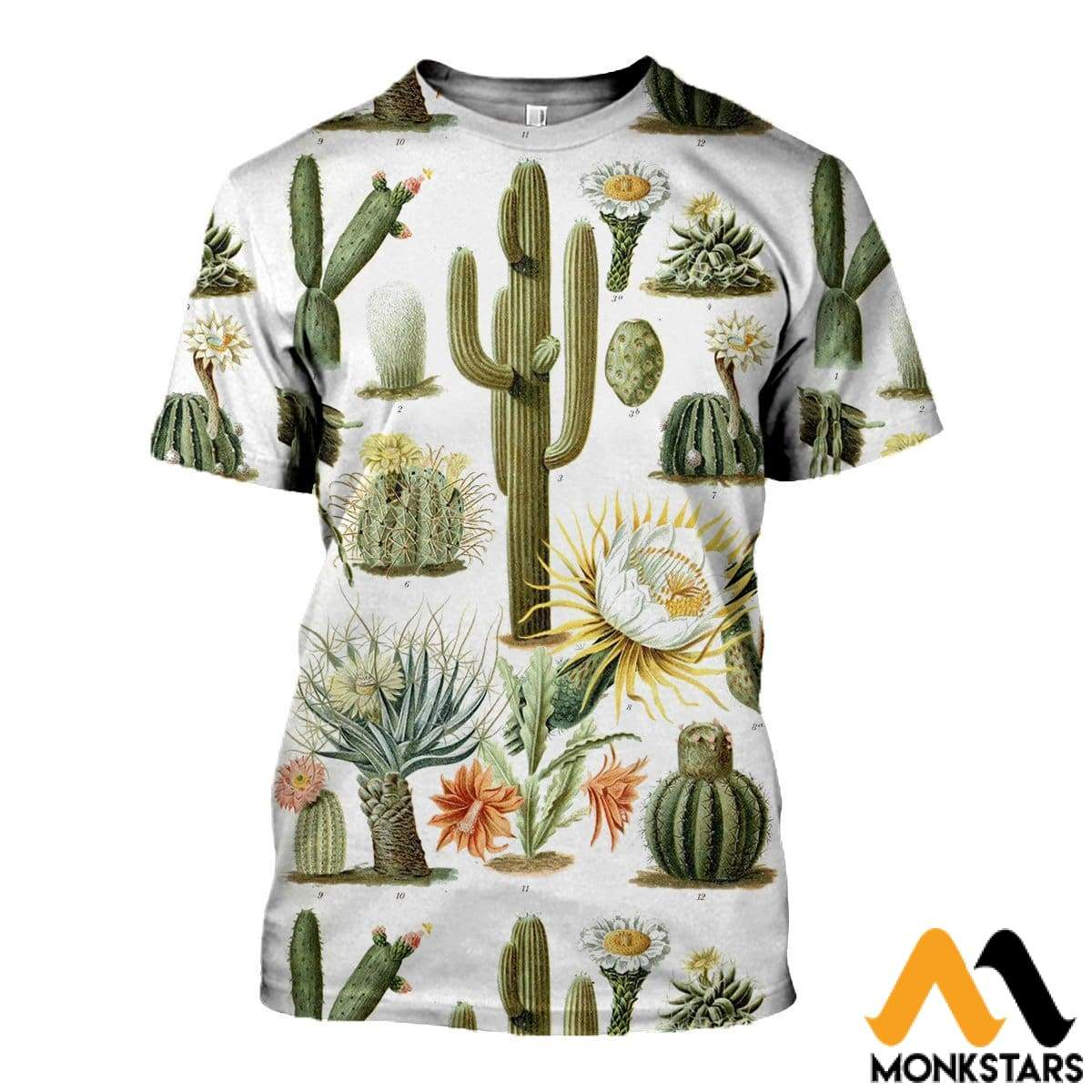 3c801bedbedd 3D All Over Printed Vintage Cactus Shirts And Shorts T-Shirt   Xs Clothes