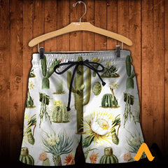 3D All Over Printed Vintage Cactus Shirts And Shorts / Xs Clothes