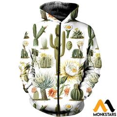 3D All Over Printed Vintage Cactus Shirts And Shorts Zipped Hoodie / Xs Clothes