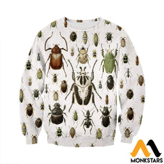 3D All Over Printed Vintage Insect Shirts And Shorts Long-Sleeved Shirt / Xs Clothes