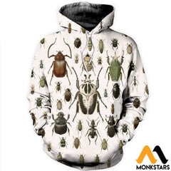 3D All Over Printed Vintage Insect Shirts And Shorts Normal Hoodie / Xs Clothes