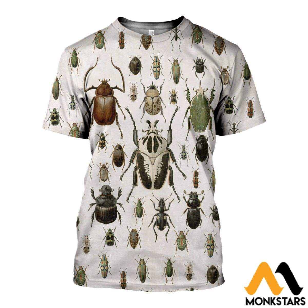 3D All Over Printed Vintage Insect Shirts And Shorts T-Shirt / Xs Clothes
