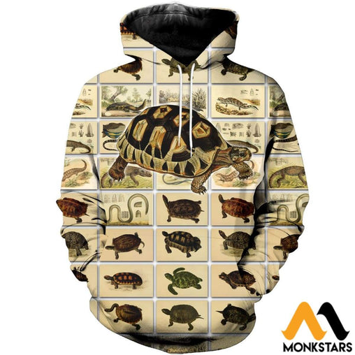 3D All Over Printed Vintage Reptiles Shirts And Shorts Normal Hoodie / Xs Clothes