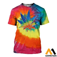 3D All Over Printed Weed Peace Shirts And Shorts T-Shirt / Xs Clothes
