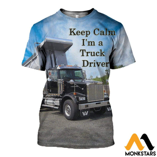 3D All Over Printed Western Star Dump Truck T-Shirt Hoodie St0K180406 / Xs Clothes