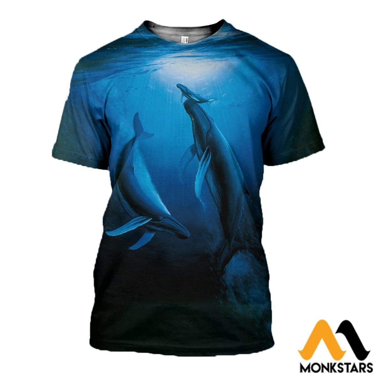 3d All Over Printed Whale Clothes Monkstars Inc