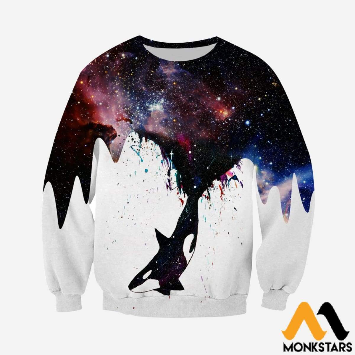 5a1d6d11e5db 3D All Over Printed Whale Killer Galaxy Shirts and Shorts ...