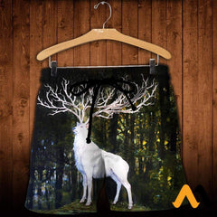 3D All Over Printed White Deer Shirts And Shorts / Xs Clothes
