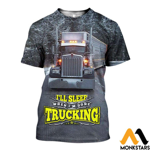 3D All Over Printed Winter Truck Shirts And Shorts T-Shirt / Xs Clothes