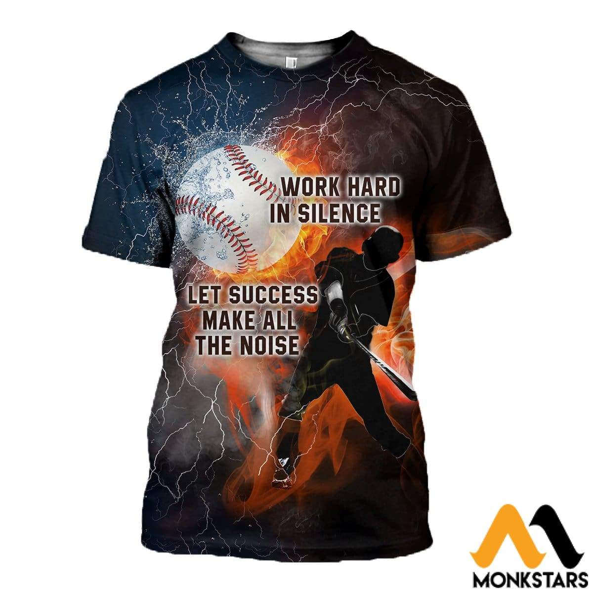 3d All Over Printed Work Hard In Silence Shirts And Shorts