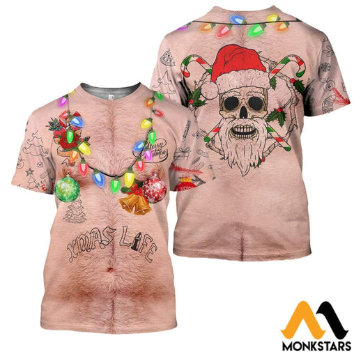 3D All Over Printed Xmas Life Funny Shirts And Shorts Clothes