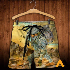 3D Printed 101St Airborne Clothes Shorts / Xs