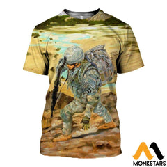 3D Printed 101St Airborne Clothes T-Shirt / Xs