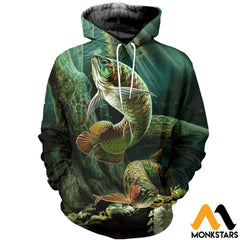 3D Printed Arowana Fish Art Clothes Normal Hoodie / Xs