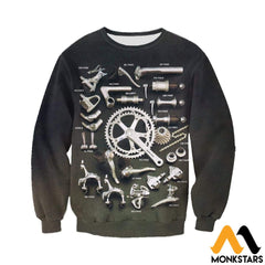 3D Printed Bicycle Parts Clothes Long-Sleeved Shirt / Xs