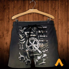 3D Printed Bicycle Parts Clothes Shorts / Xs