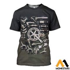 3D Printed Bicycle Parts Clothes T-Shirt / Xs
