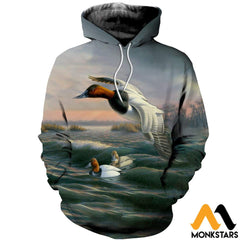 3D Printed Bluebill Ducks Clothes Normal Hoodie / Xs