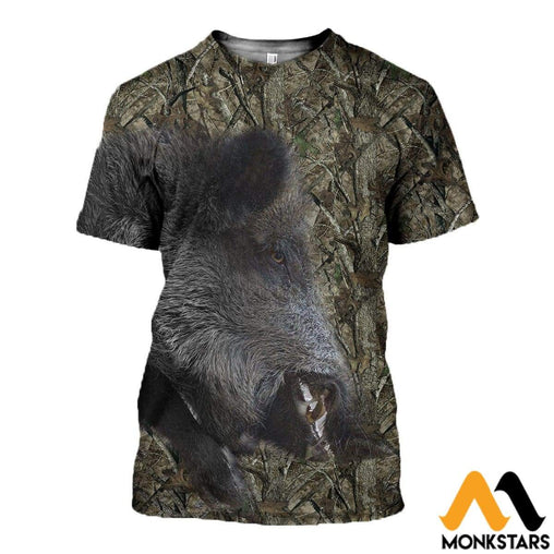 3D Printed Boar Hunting Clothes T-Shirt / Xs