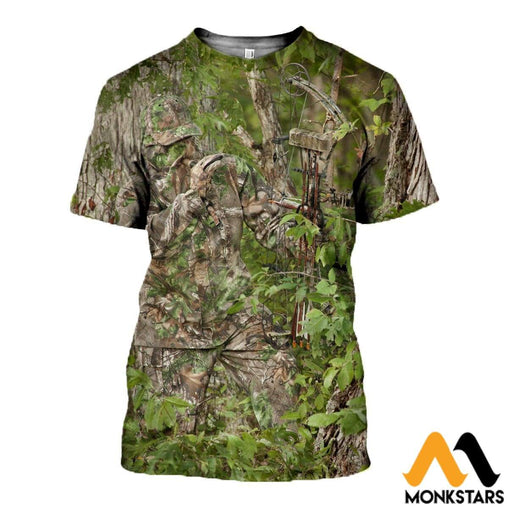 3D Printed Camouflage For Spring Clothes T-Shirt / Xs
