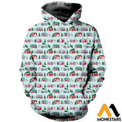 3D Printed Camping Floral Clothes Normal Hoodie / Xs
