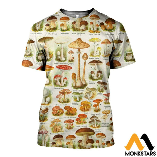 3D Printed Champignons Clothes T-Shirt / Xs