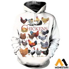 3D Printed Chickens Clothes Normal Hoodie / Xs