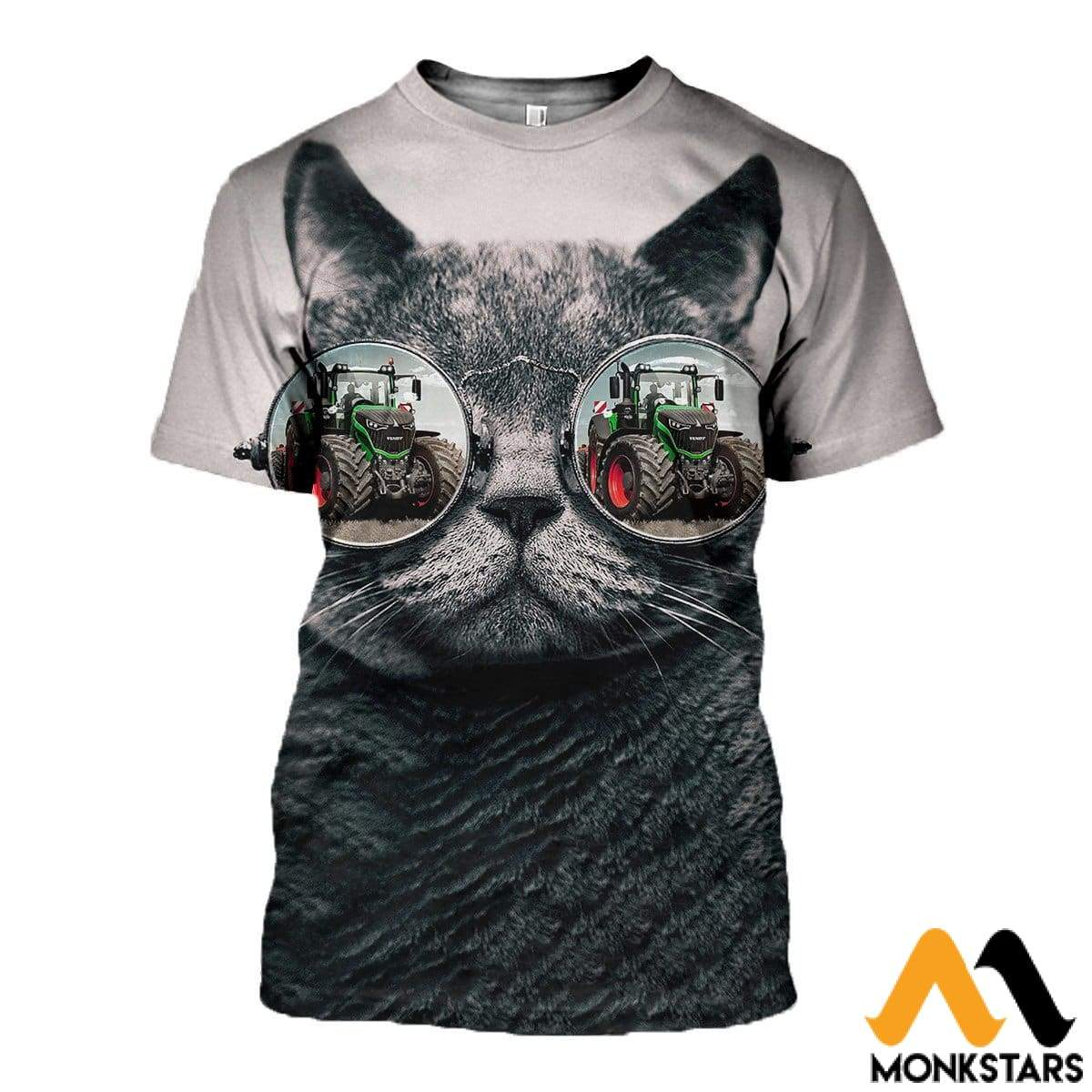 3D Printed Cool Cat Clothes T-Shirt / Xs