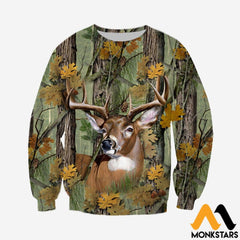 3D Printed Deer Camo Clothes Long-Sleeved Shirt / Xs