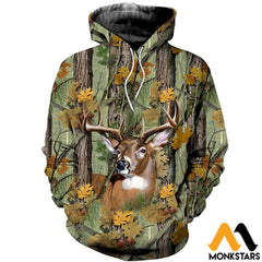 3D Printed Deer Camo Clothes Normal Hoodie / Xs