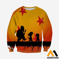 3D Printed Dragon Ball Clothes Long-Sleeved Shirt / Xs