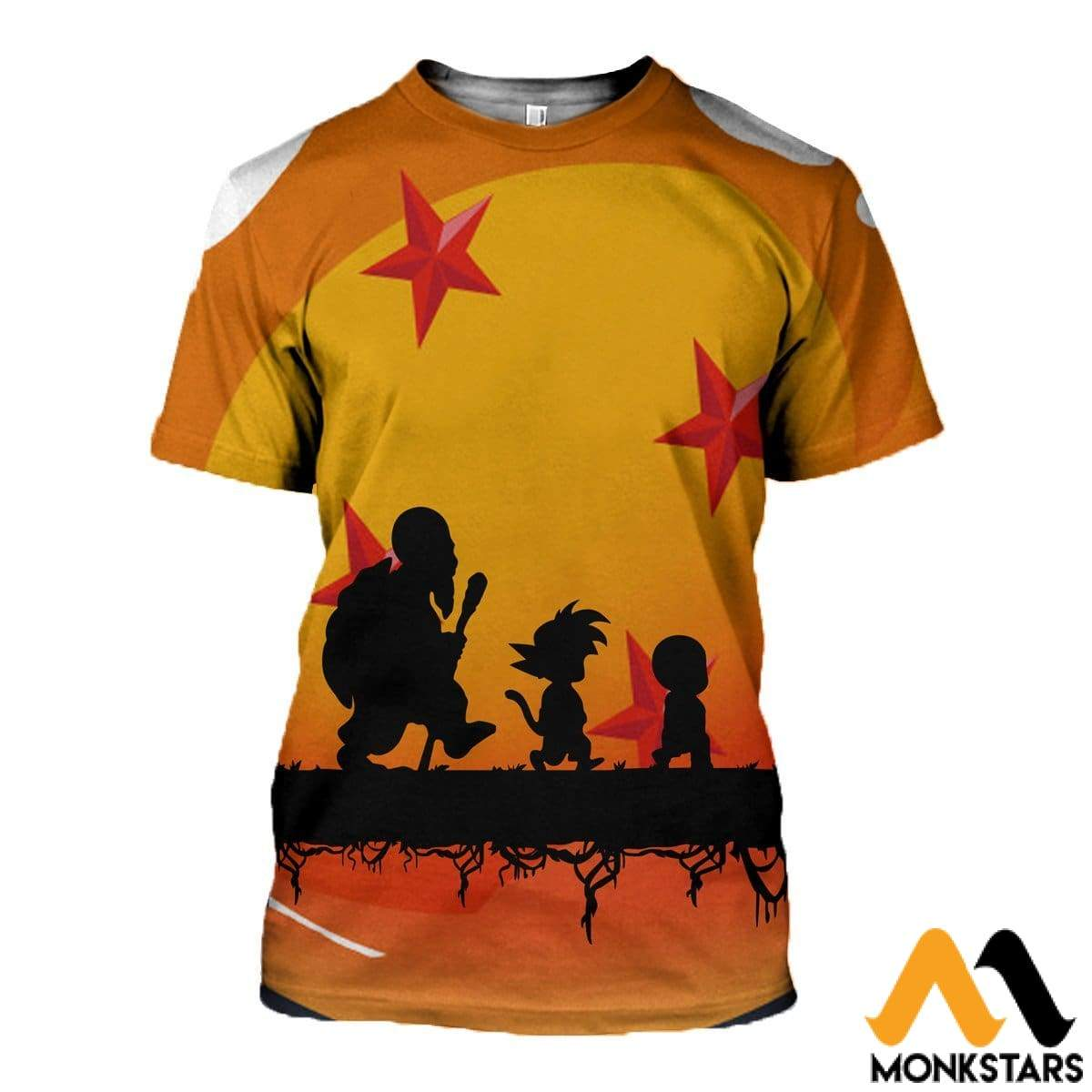 3D Printed Dragon Ball Clothes T-Shirt / Xs