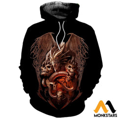 3D Printed Dragon Clothes Normal Hoodie / Xs