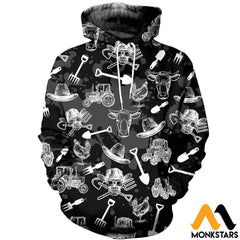 3D Printed Farm Skull Clothes Normal Hoodie / Xs